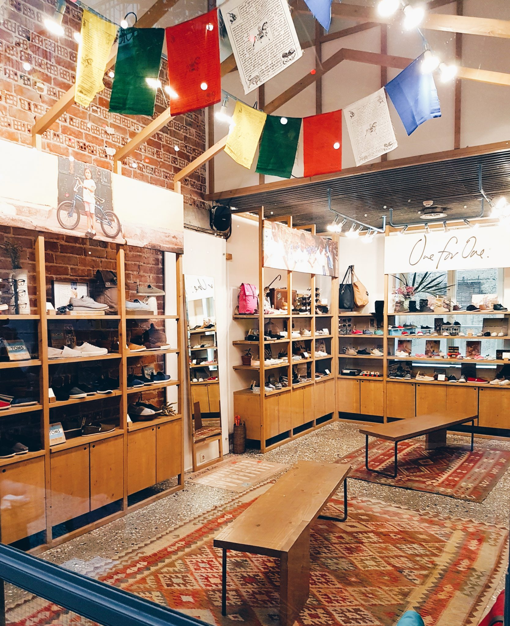 TOMS Flagship store is located on Tsimiski Street in Thessaloniki, Greece.