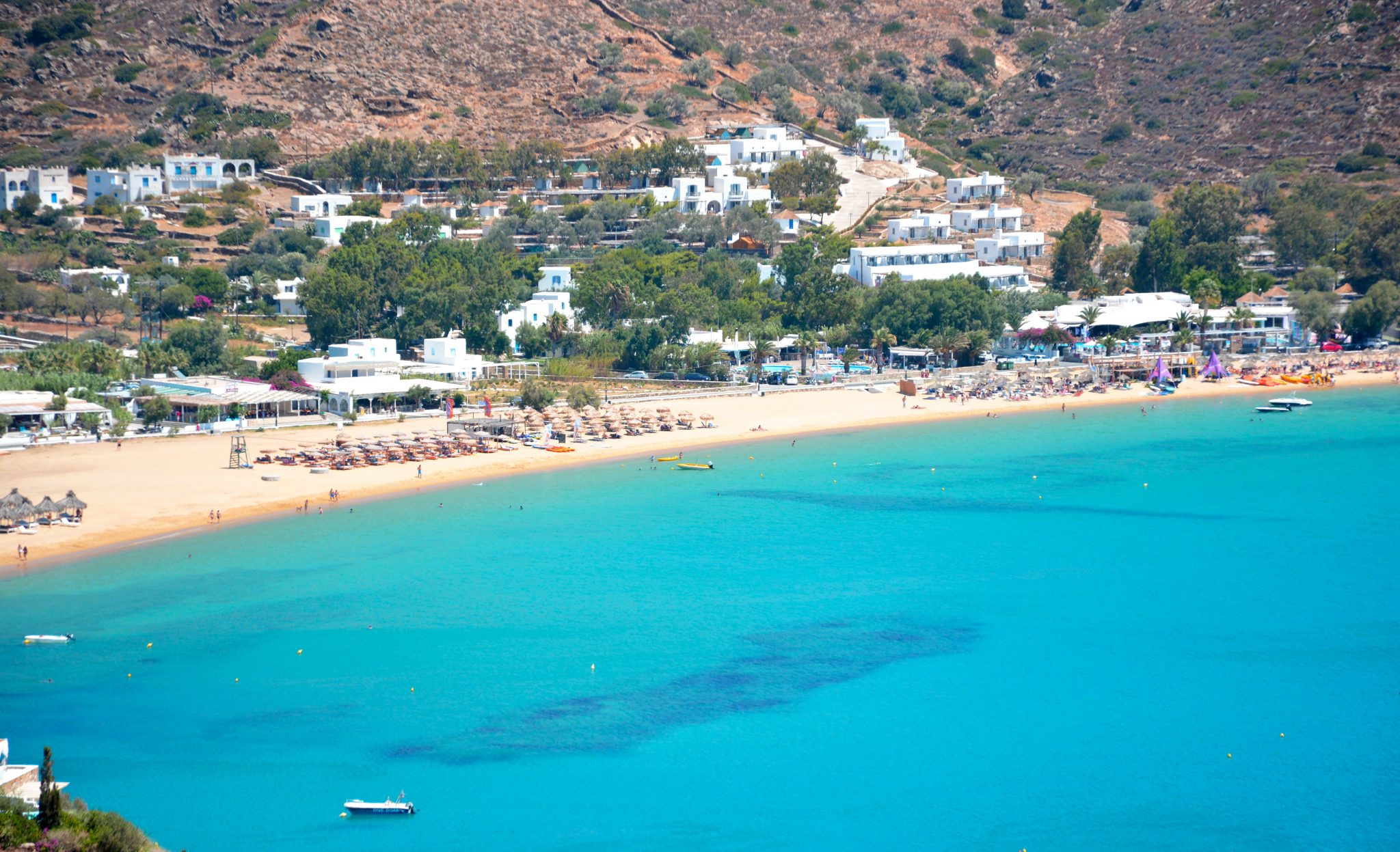 Mylopotas Beach is found on Ios, Greece.