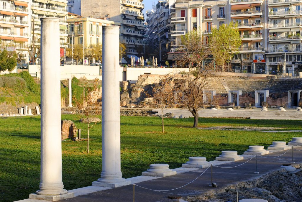 Roman Forum in Thessaloniki, Greece.