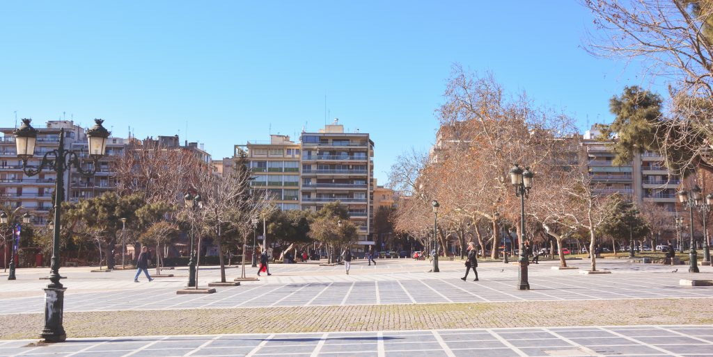 Dikastirion Square, Thessaloniki, Greece