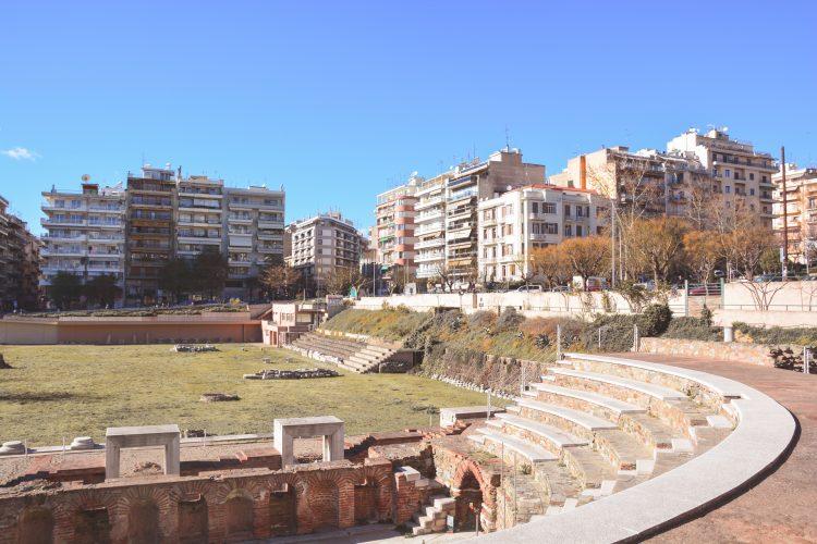 Roman Forum in Thessaloniki, Greece.