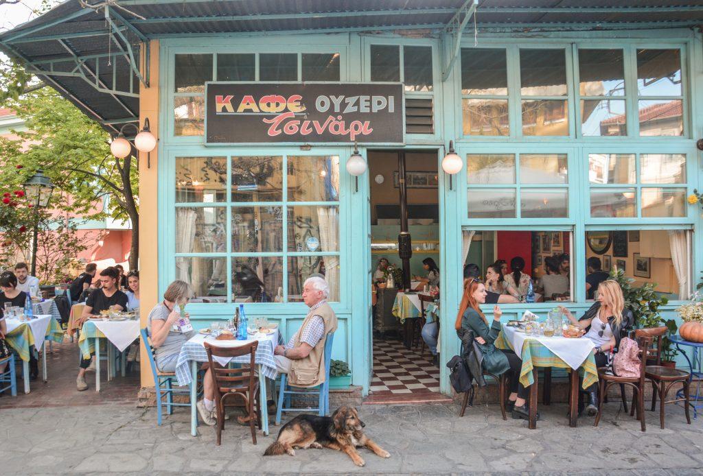 Greek tavern in Thessaloniki