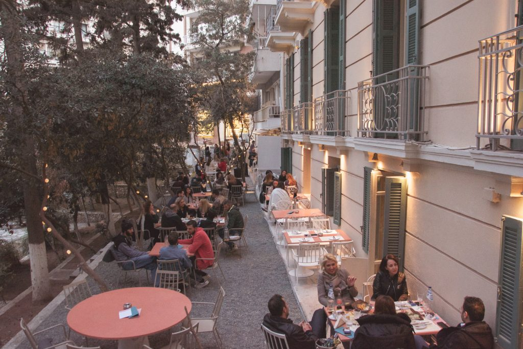 Outdoor cafe in Thessaloniki
