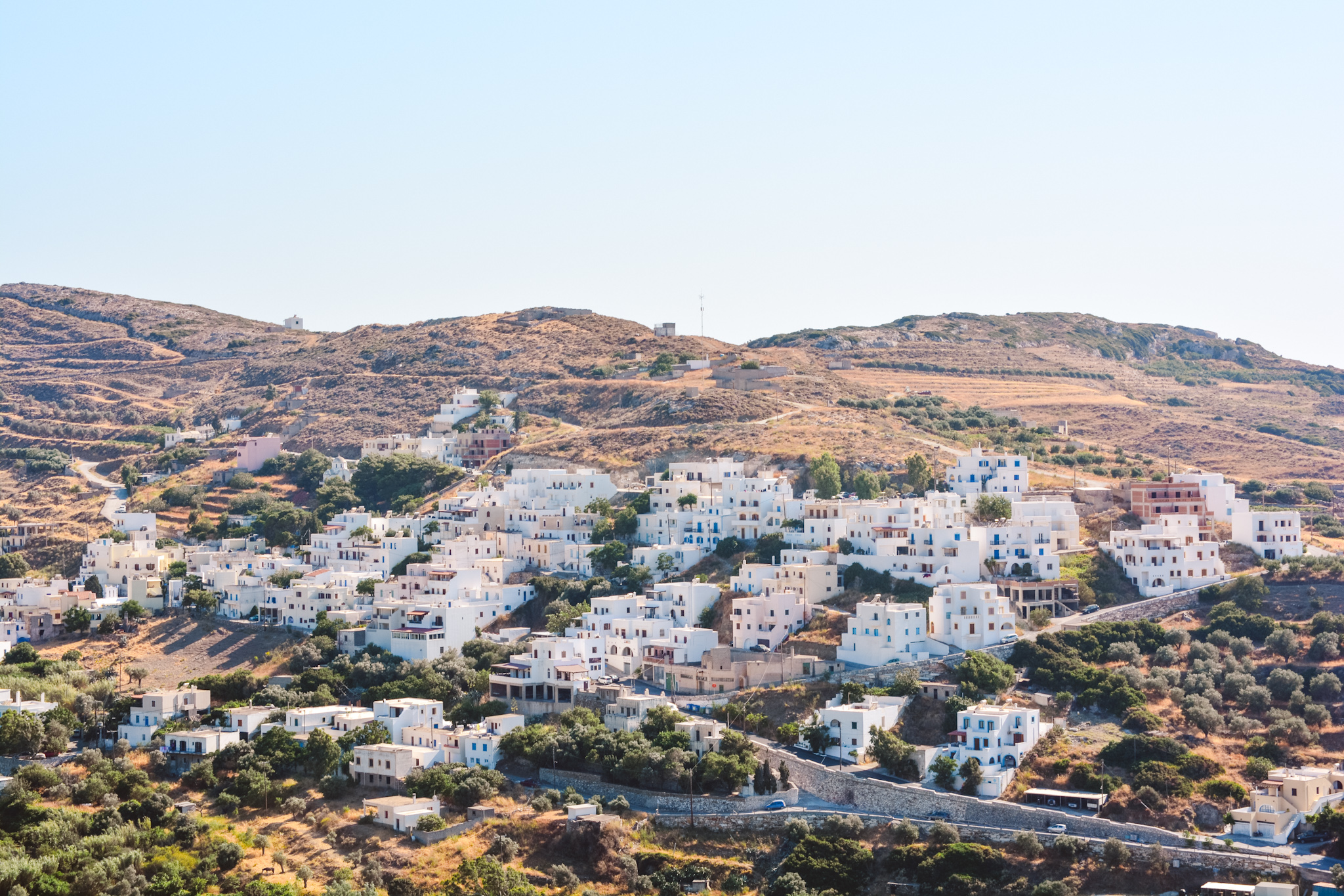 Filoti village in Naxos, Greece