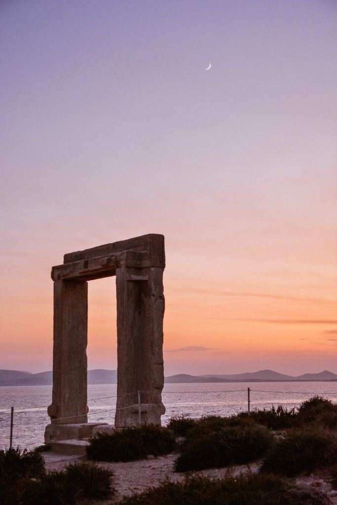 Temple of Apollo in Naxos, Greece