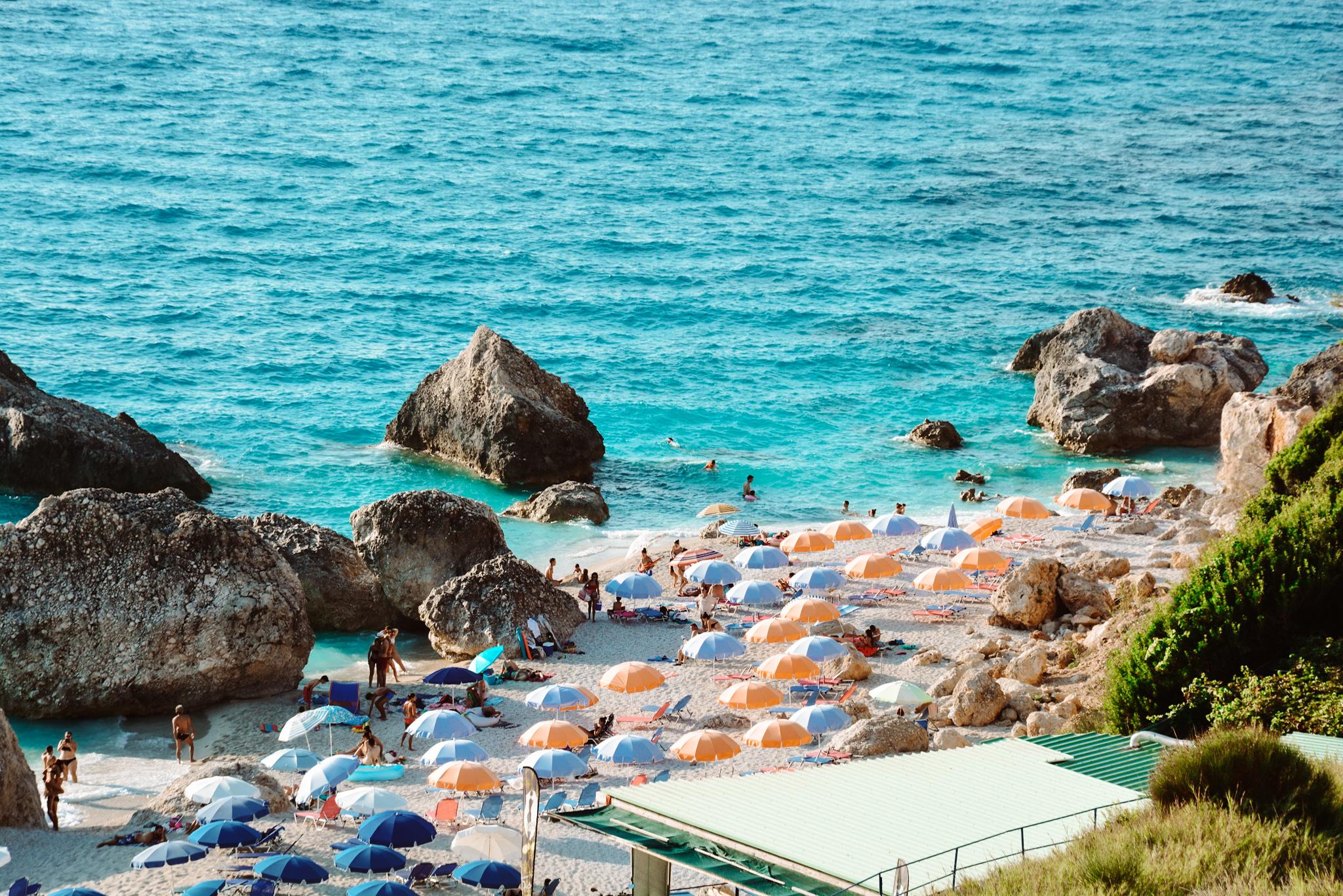 Megali Petra Beach, Lefkada