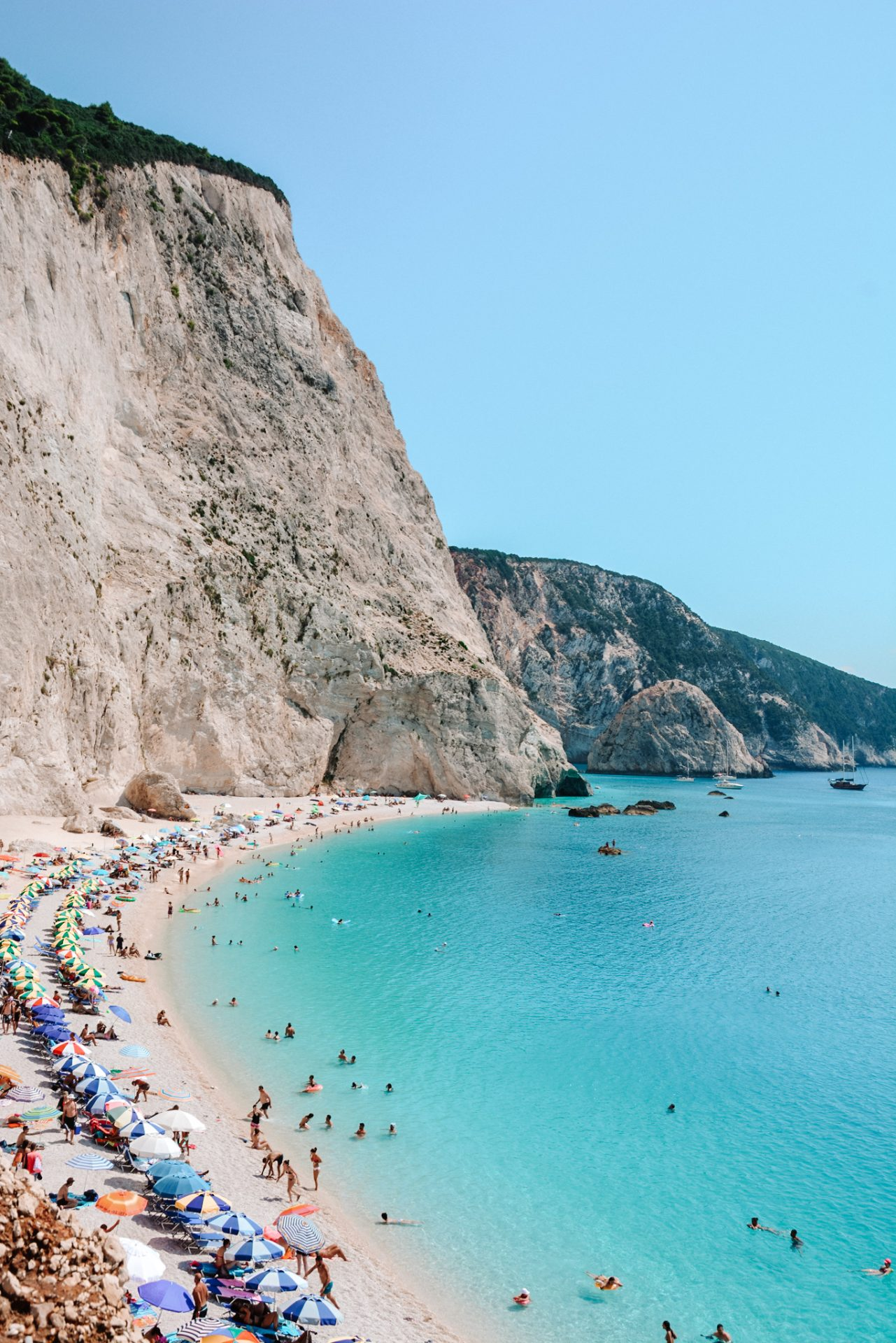 The best beach in Lefkada is Porto Katsiki
