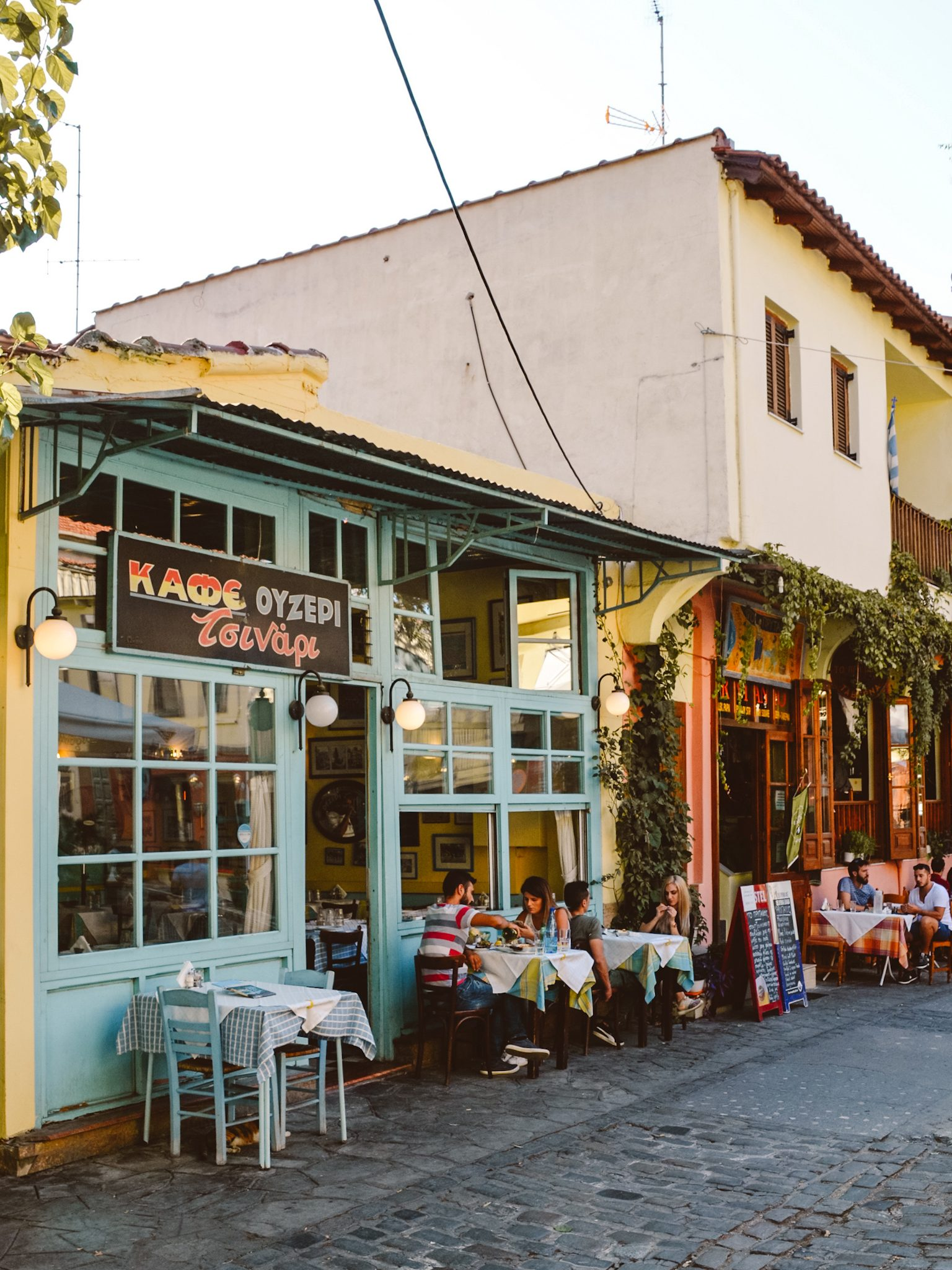 Greek Taverns in Ano Poli, Thessaloniki