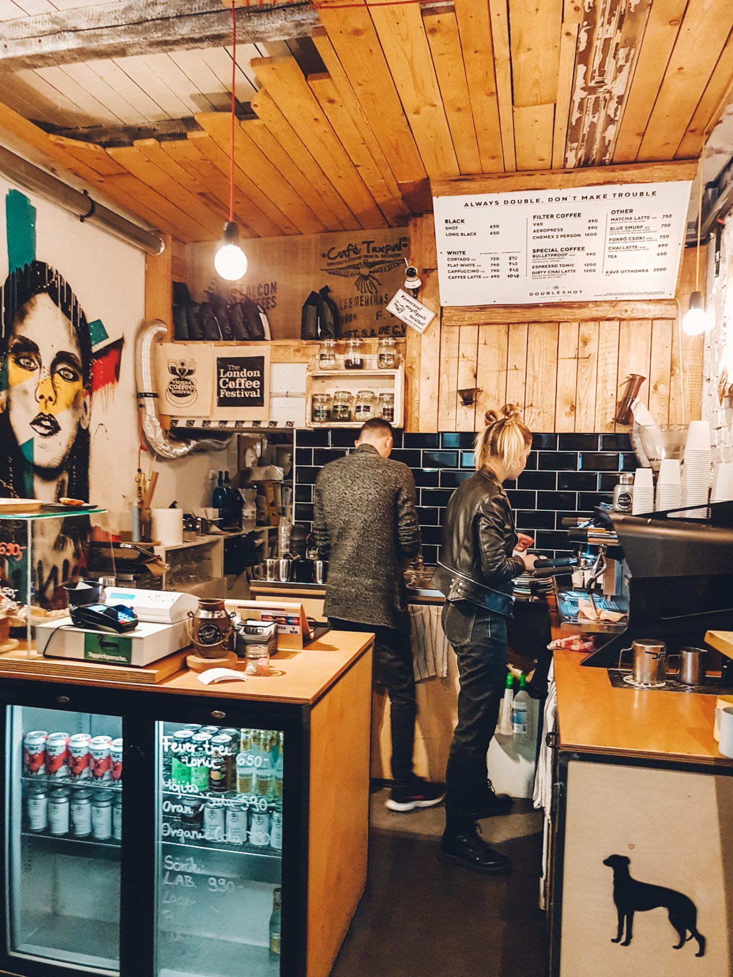 Partisan Coffeeshop has the best coffee in Budapest