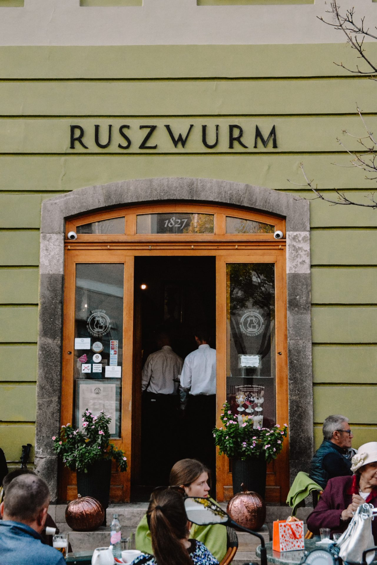 Eating at Ruszwurm cafe in Budapest is a must