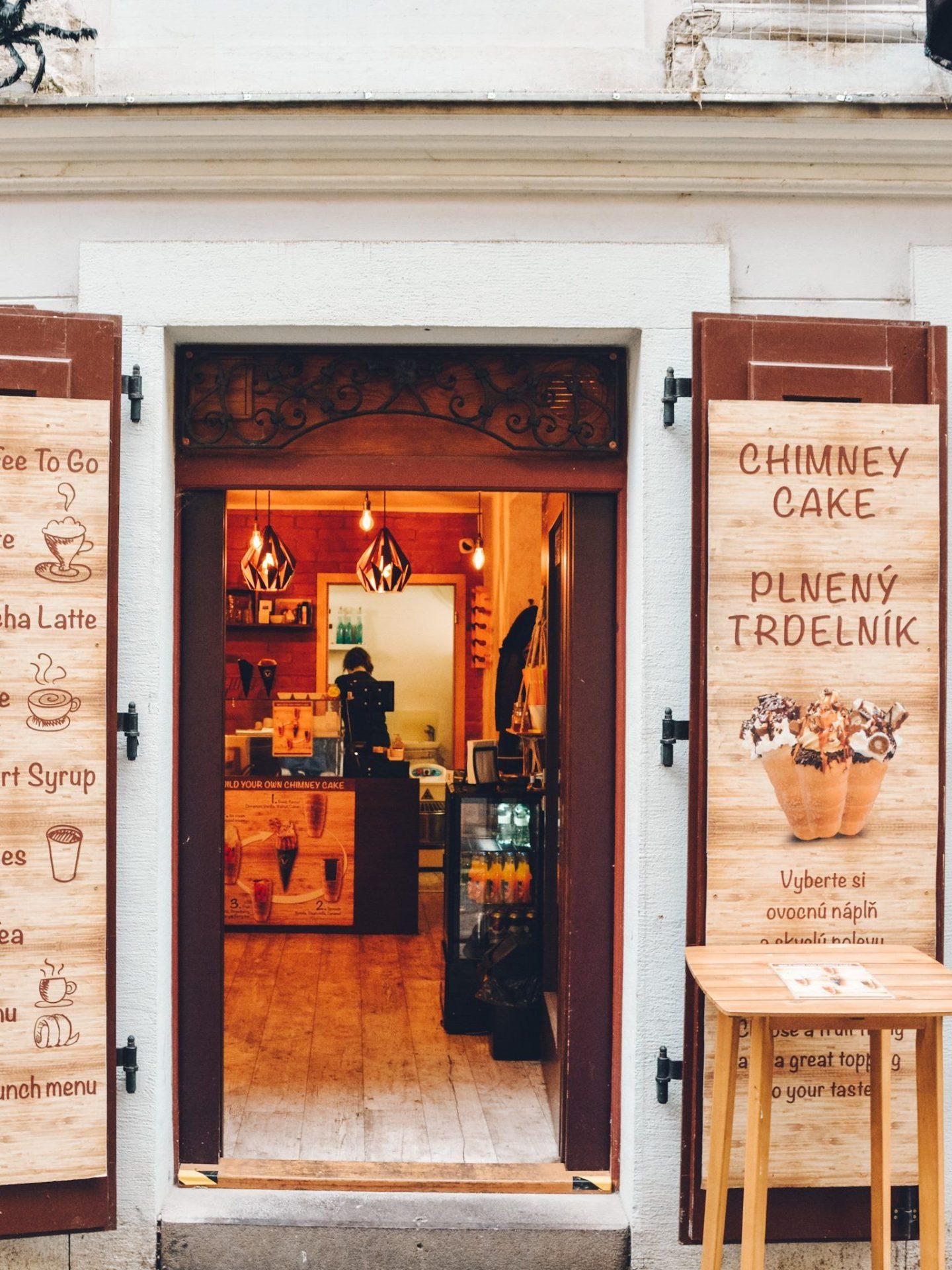Chimney Cakes in Bratislava, Slovakia
