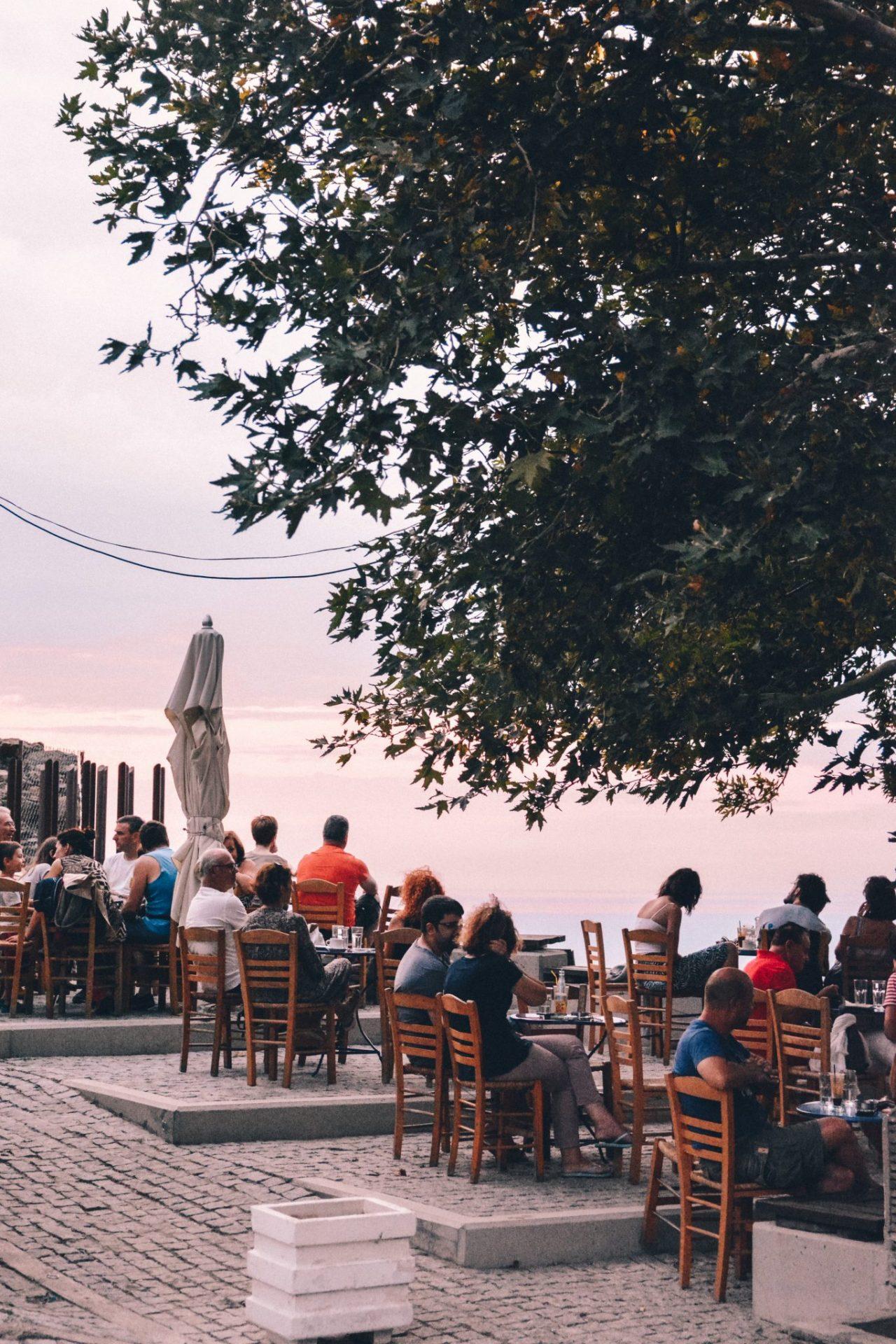 Cafe O Pirgos in Samothrace