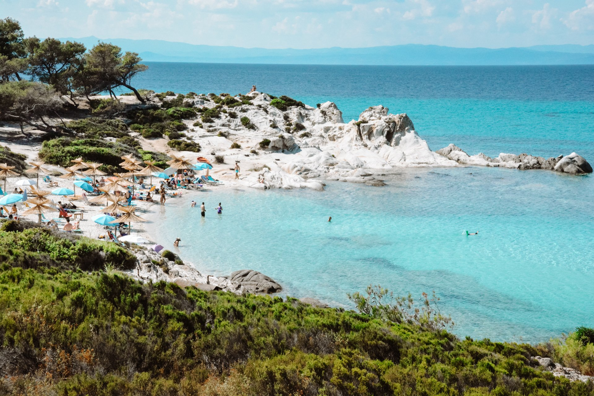 Kavourotripes Beach in Sithonia Halkidiki