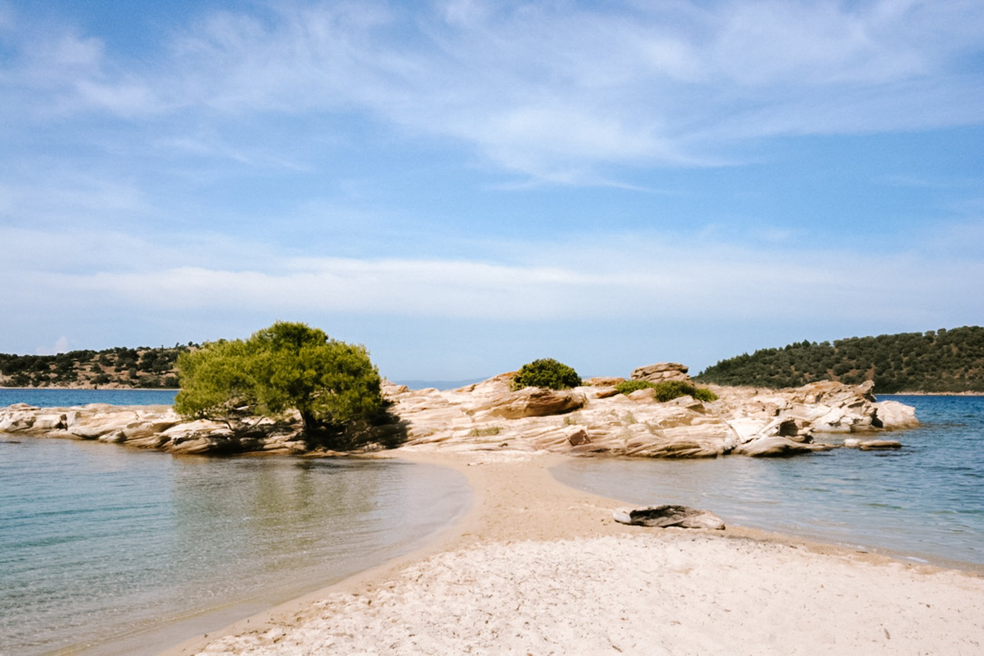 Lagonisi Beach in Sithonia Halkidiki