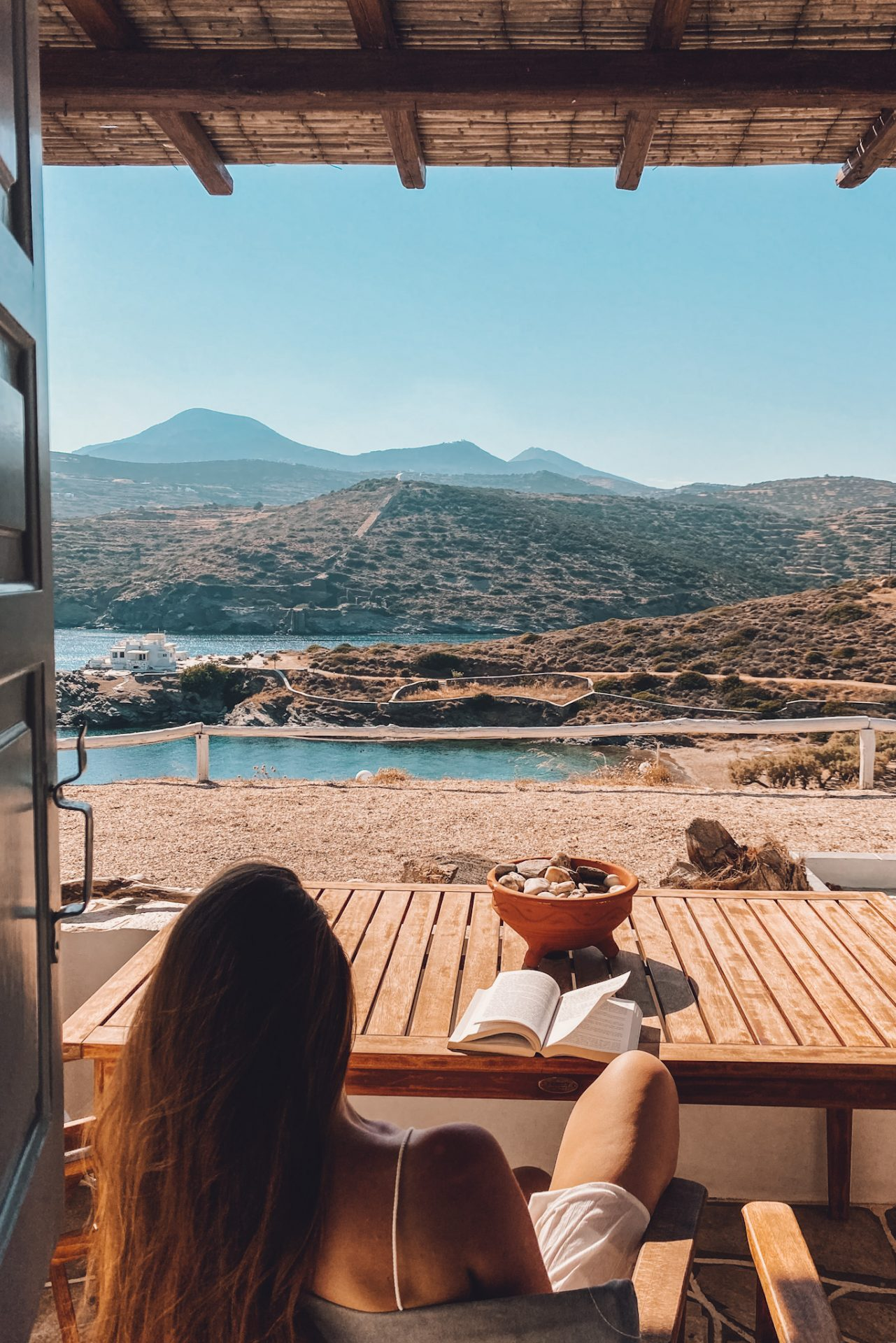 Hotel with a view at Sifnos, Greece