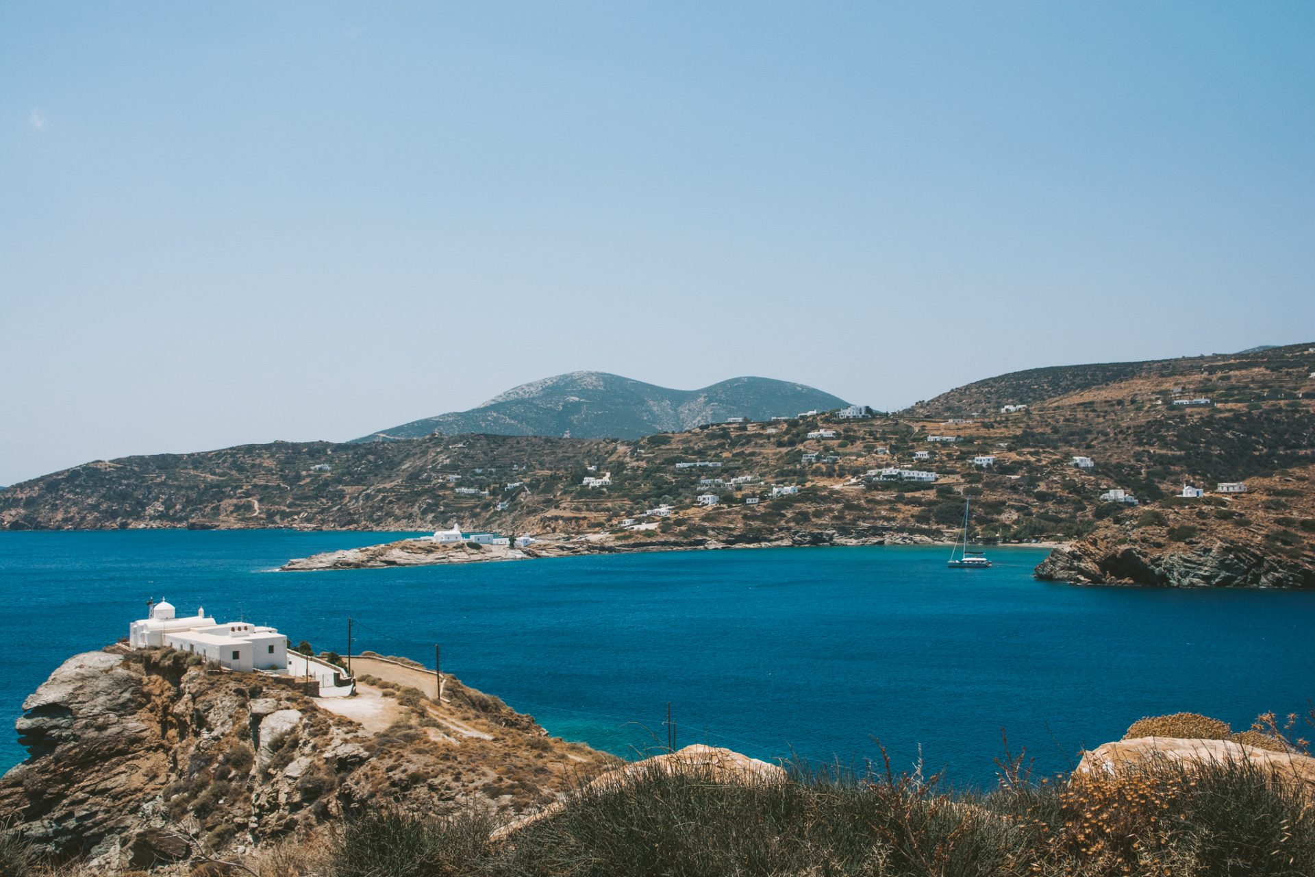 View from Kavos Hotel, Sifnos